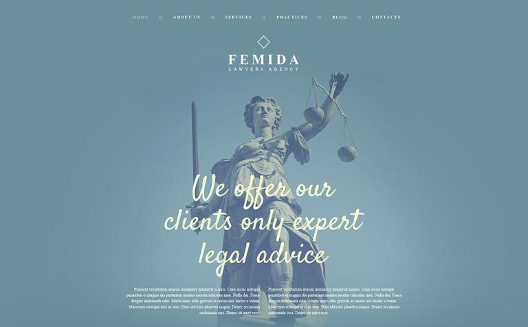 Tema de WordPress #54001 para Sitio de Bufetes de abogados