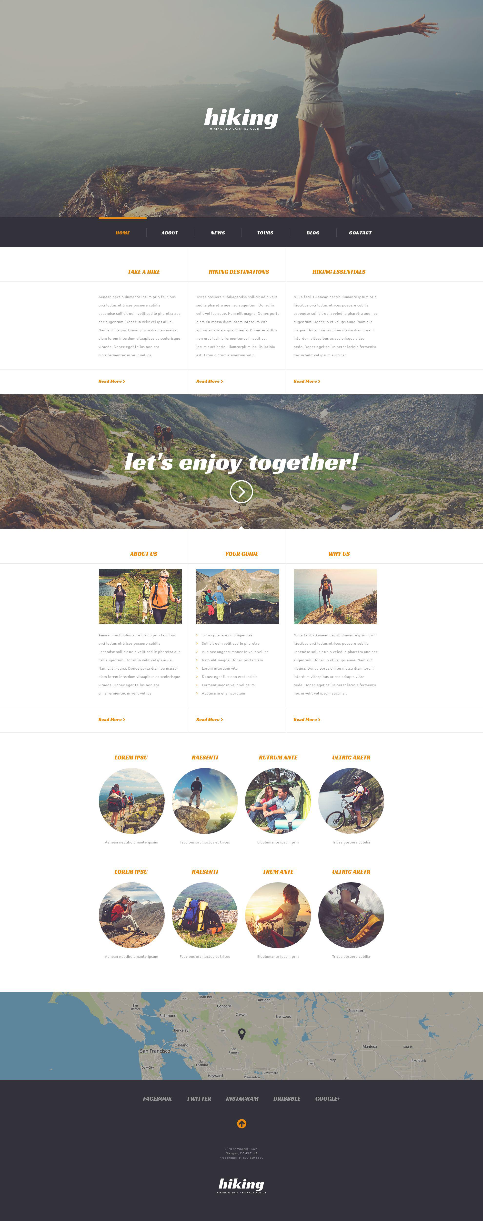Tema de WordPress #54043 para Sitio de Campamento