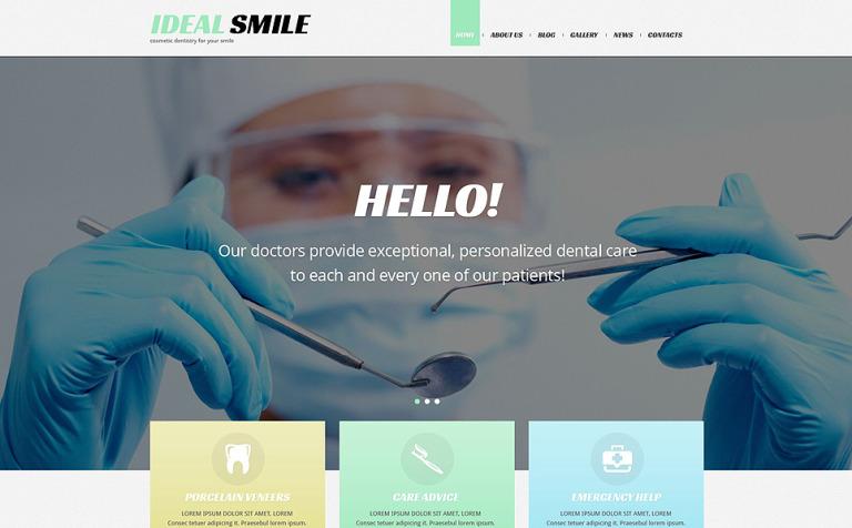 Tema de WordPress #54036 para Sitio de Odontología