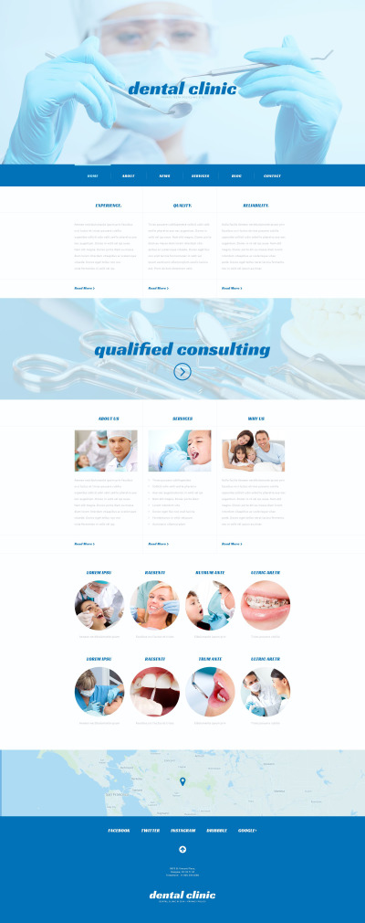 Responsive Tema De WordPress #54041 para Sitio de  para Sitio de Odontología