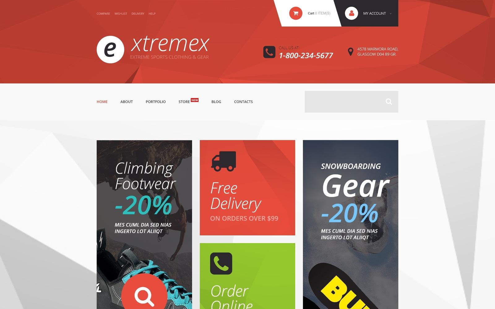"Tema WooCommerce ""Extremex"" #54052"