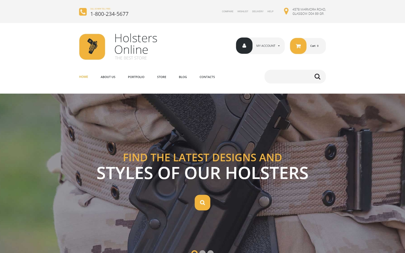 "Tema WooCommerce ""Holsters Online Store"" #54049"
