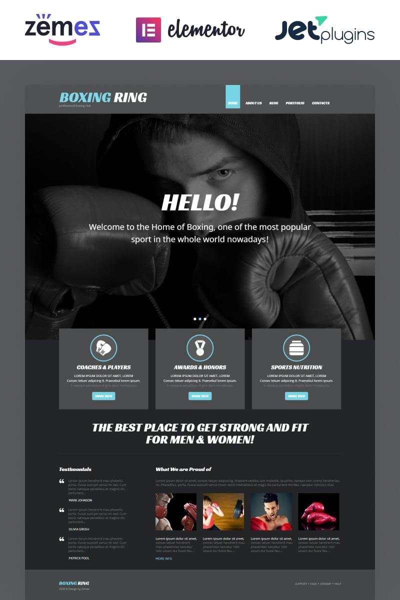 Tema WordPress Flexível para Sites de Boxe №54034