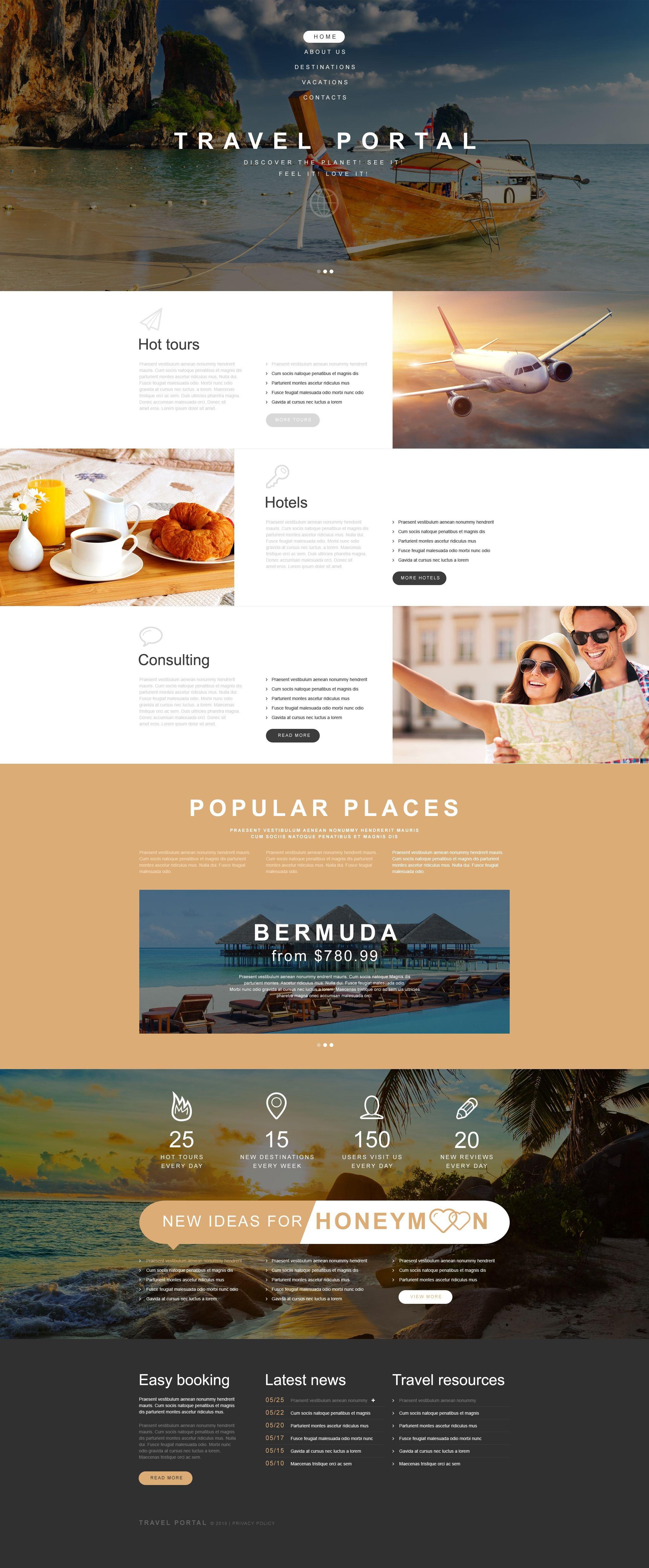 Travel Agency Muse Template - screenshot