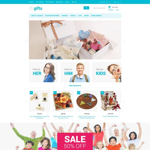 Gifts - Magento Template based on Bootstrap