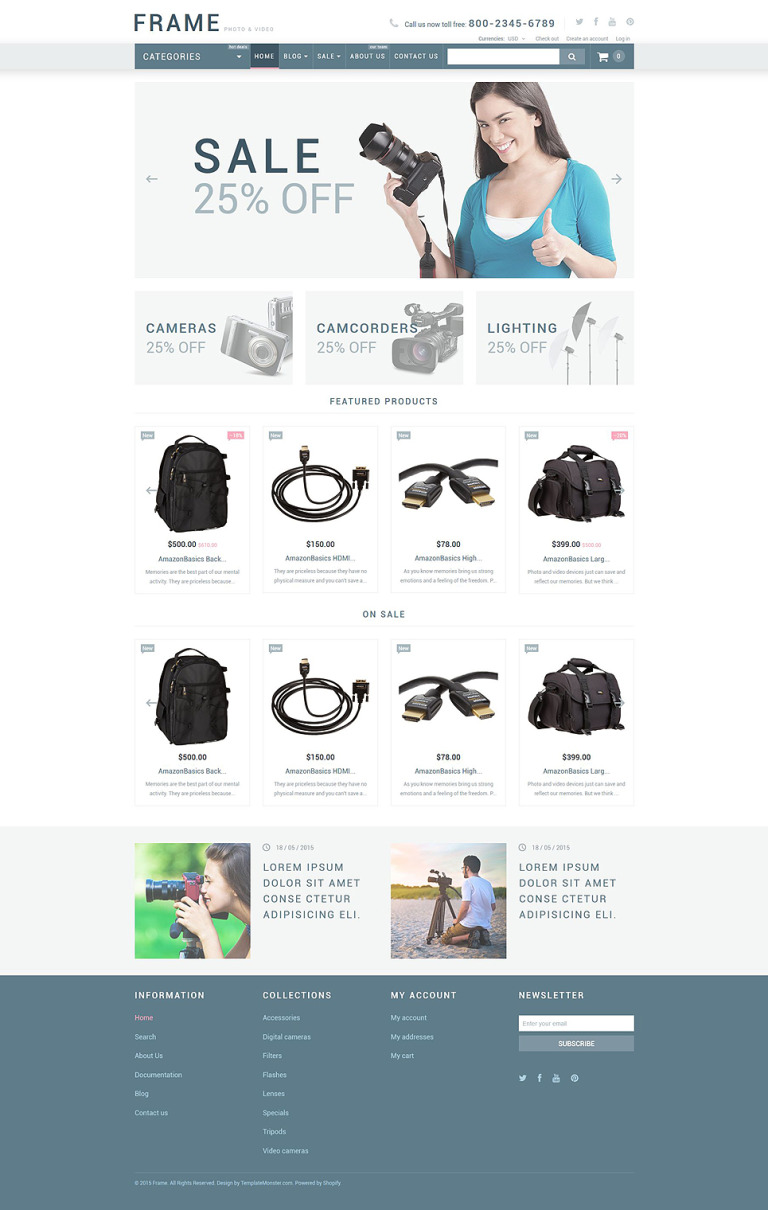 Video Store Responsive Shopify Theme New Screenshots BIG