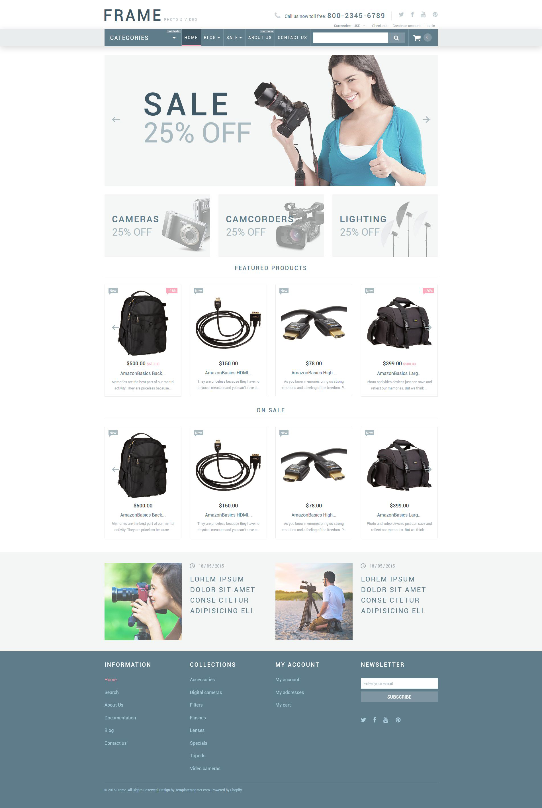 Video Store Responsive Shopify Theme