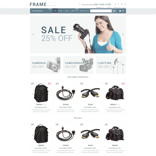 Frame - Shopify Template based on Bootstrap