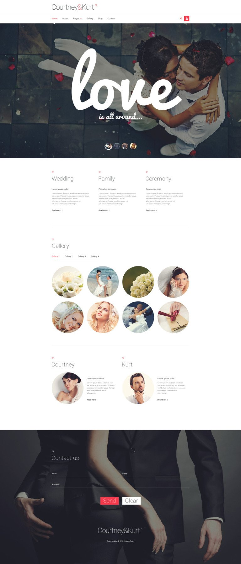 Wedding Responsive Joomla Template New Screenshots BIG