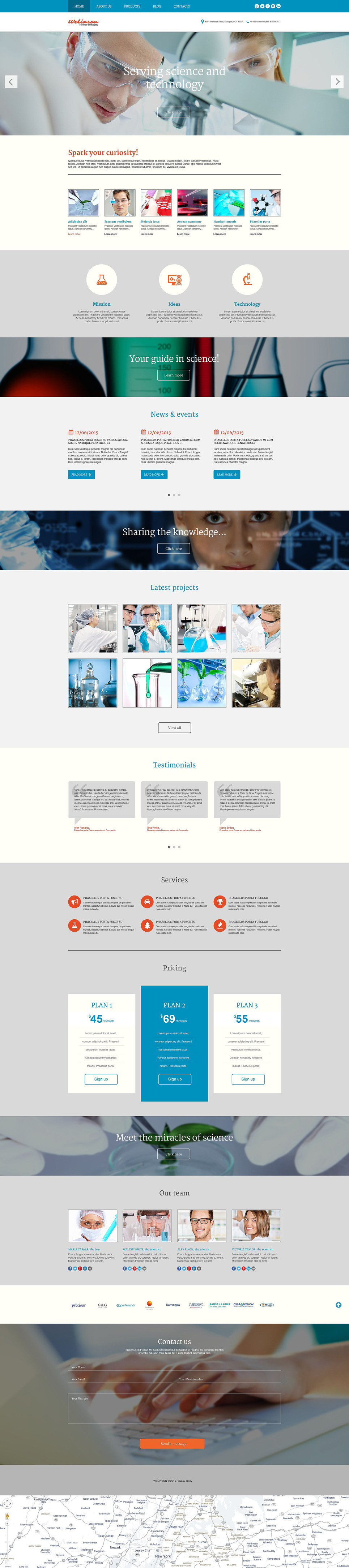 Welinson WordPress Theme New Screenshots BIG