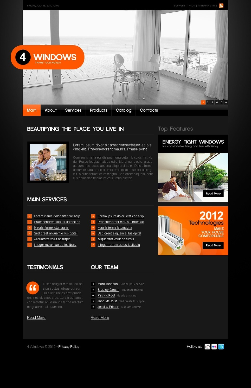 Windows & Doors PSD Template New Screenshots BIG