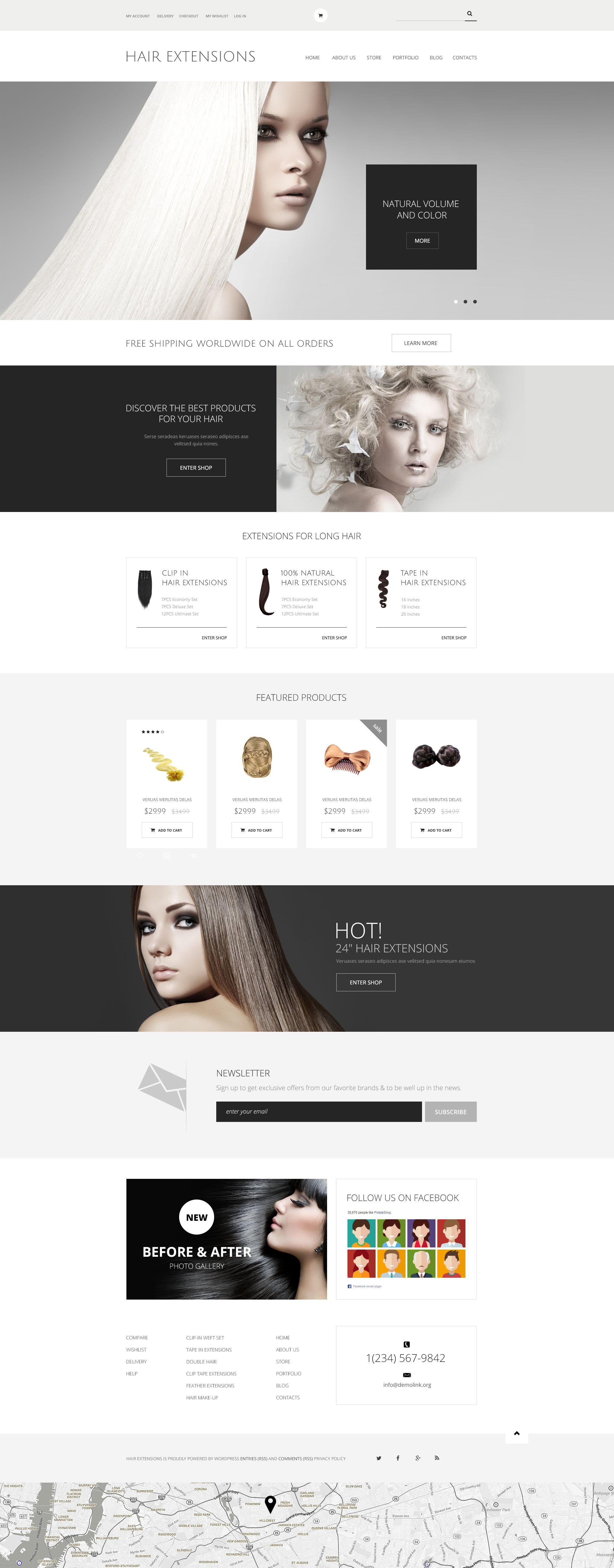 "WooCommerce Theme namens ""Haarverlängerungen Salon"" #54053 - Screenshot"