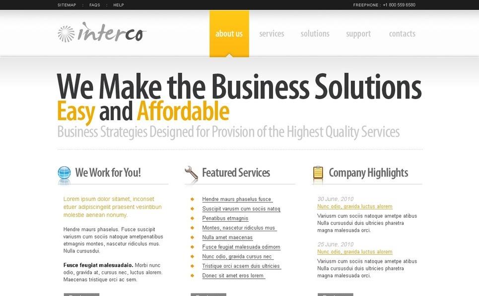 Szablon PSD #54100 na temat: biznes i usługi New Screenshots BIG