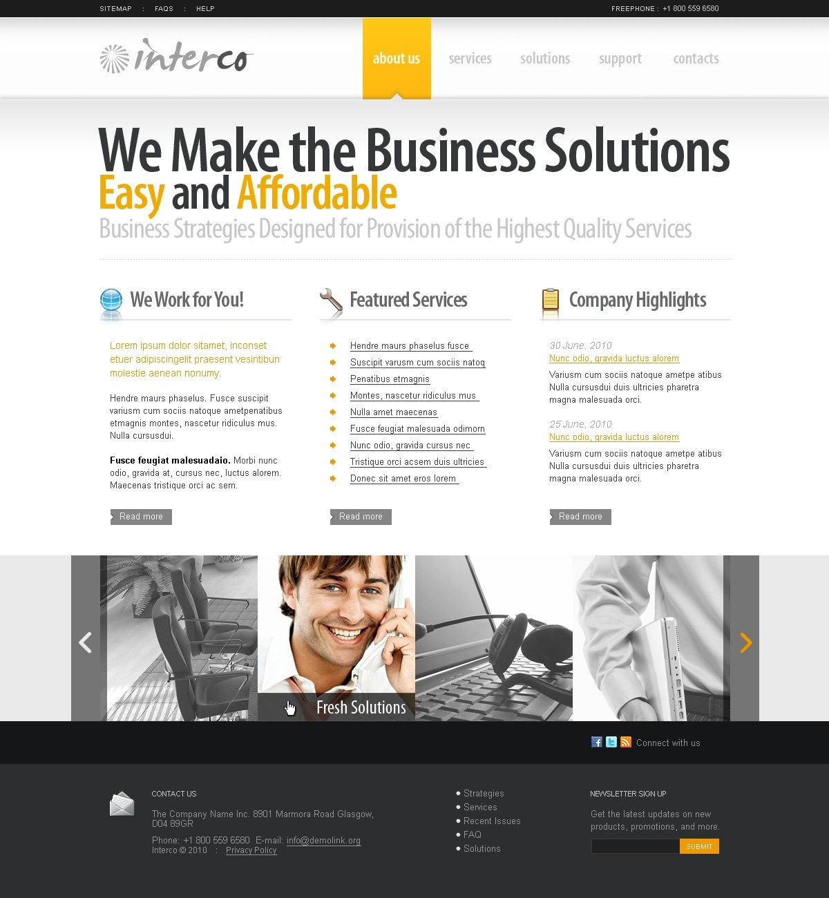 The Interco Business Company PSD Design 54100, one of the best PSD templates of its kind (business, wide, jquery), also known as interco business company PSD template, corporate solutions PSD template, innovations PSD template, contacts PSD template, service PSD template, support PSD template, information dealer PSD template, stocks PSD template, team PSD template, success PSD template, money PSD template, marketing PSD template, director PSD template, manager PSD template, analytics PSD template, planning PSD template, limited PSD template, office PSD template, sales and related with interco business company, corporate solutions, innovations, contacts, service, support, information dealer, stocks, team, success, money, marketing, director, manager, analytics, planning, limited, office, sales, etc.