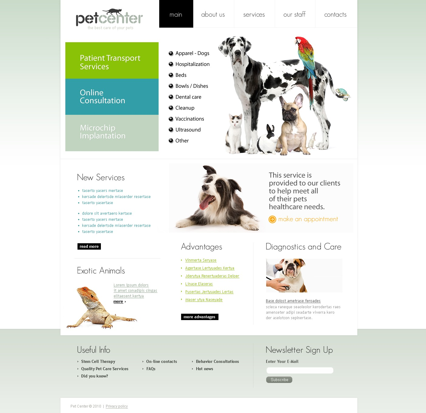 The Pet Center PSD Design 54101, one of the best PSD templates of its kind (medical, animals & pets, wide), also known as pet center PSD template, veterinarian PSD template, pets PSD template, hospital care PSD template, health PSD template, cat PSD template, dog PSD template, doctors PSD template, puppy PSD template, kitten clinical PSD template, veterinary PSD template, vet PSD template, tips PSD template, feed PSD template, medicine PSD template, staff PSD template, services PSD template, breed PSD template, age PSD template, color PSD template, accommodation PSD template, adaptable PSD template, pet PSD template, apparel PSD template, bed PSD template, dishes PSD template, bowl PSD template, cleanup PSD template, collar PSD template, flea PSD template, tick PSD template, grooming PSD template, supplies PSD template, feed PSD template, vi and related with pet center, veterinarian, pets, hospital care, health, cat, dog, doctors, puppy, kitten clinical, veterinary, vet, tips, feed, medicine, staff, services, breed, age, color, accommodation, adaptable, pet, apparel, bed, dishes, bowl, cleanup, collar, flea, tick, grooming, supplies, feed, vi, etc.