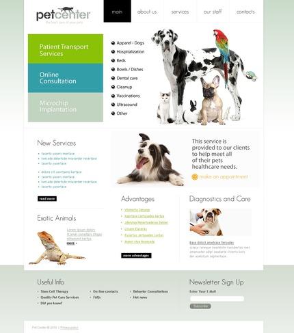 PSD макет сайта №54101