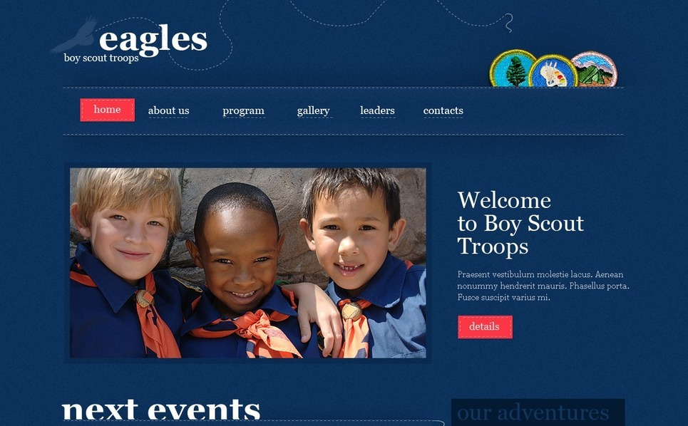 Template Photoshop  para Sites de Escotismo №54102 New Screenshots BIG