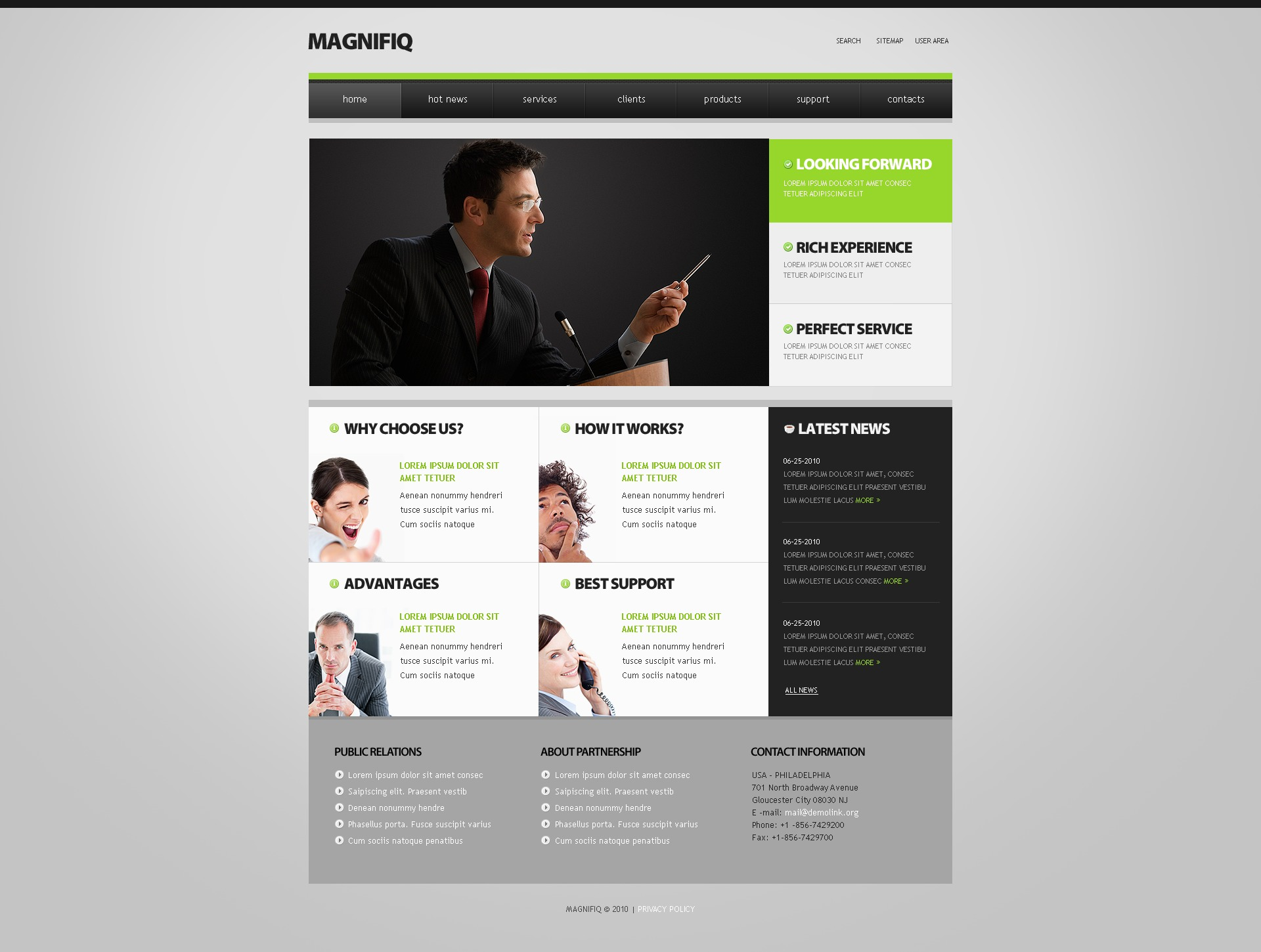 The Magnifiq Business Company PSD Design 54103, one of the best PSD templates of its kind (business, wide, jquery), also known as magnifiq business company PSD template, corporate solutions PSD template, innovations PSD template, contacts PSD template, service PSD template, support PSD template, information dealer PSD template, stocks PSD template, team PSD template, success PSD template, money PSD template, marketing PSD template, director PSD template, manager PSD template, analytics PSD template, planning PSD template, limited PSD template, office PSD template, sales and related with magnifiq business company, corporate solutions, innovations, contacts, service, support, information dealer, stocks, team, success, money, marketing, director, manager, analytics, planning, limited, office, sales, etc.