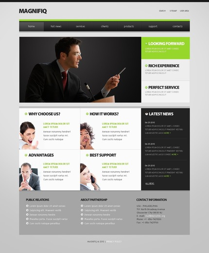 ADOBE Photoshop Template 54103 Home Page Screenshot