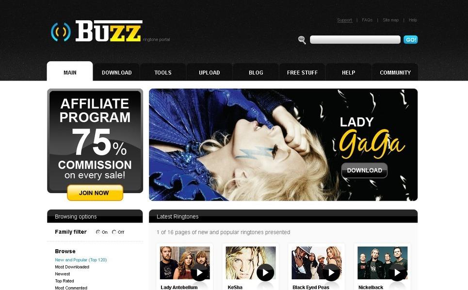 视频网站PSD模板 New Screenshots BIG
