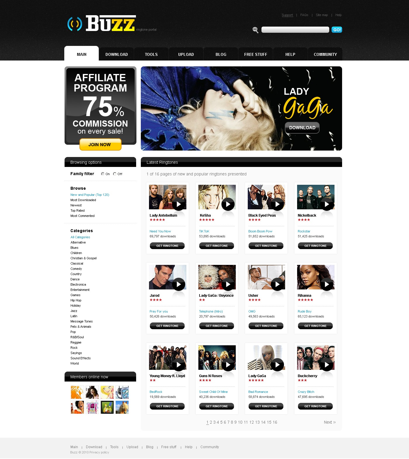 The Buzz Megatone PSD Design 54105, one of the best PSD templates of its kind (media, most popular, wide), also known as buzz megatone PSD template, mobile PSD template, stuff PSD template, content PSD template, entertainment PSD template, joy PSD template, games PSD template, ringtones PSD template, tunes PSD template, polyphony PSD template, monophony PSD template, upload PSD template, picks PSD template, feature PSD template, Java games PSD template, logos PSD template, wallpapers PSD template, downloads PSD template, screensavers PSD template, fun PSD template, fresh PSD template, arrival PSD template, voice PSD template, tones PSD template, categories PSD template, images PSD template, photos PSD template, messaging PSD template, graphic and related with buzz megatone, mobile, stuff, content, entertainment, joy, games, ringtones, tunes, polyphony, monophony, upload, picks, feature, Java games, logos, wallpapers, downloads, screensavers, fun, fresh, arrival, voice, tones, categories, images, photos, messaging, graphic, etc.
