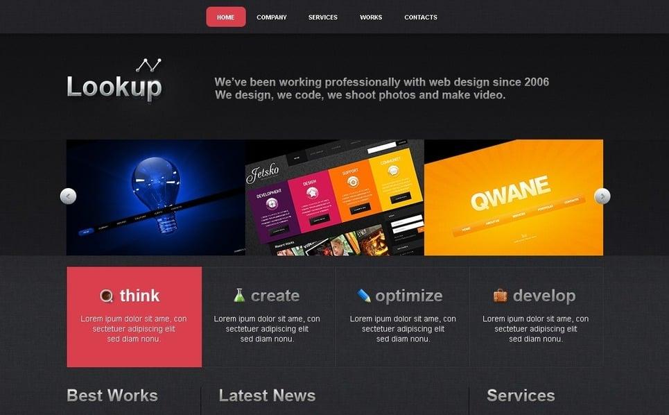 Plantilla PSD #54107 para Sitio de Diseño Web New Screenshots BIG