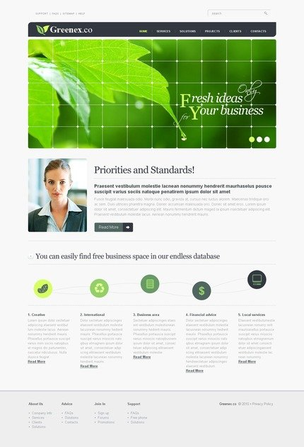 ADOBE Photoshop Template 54108 Home Page Screenshot