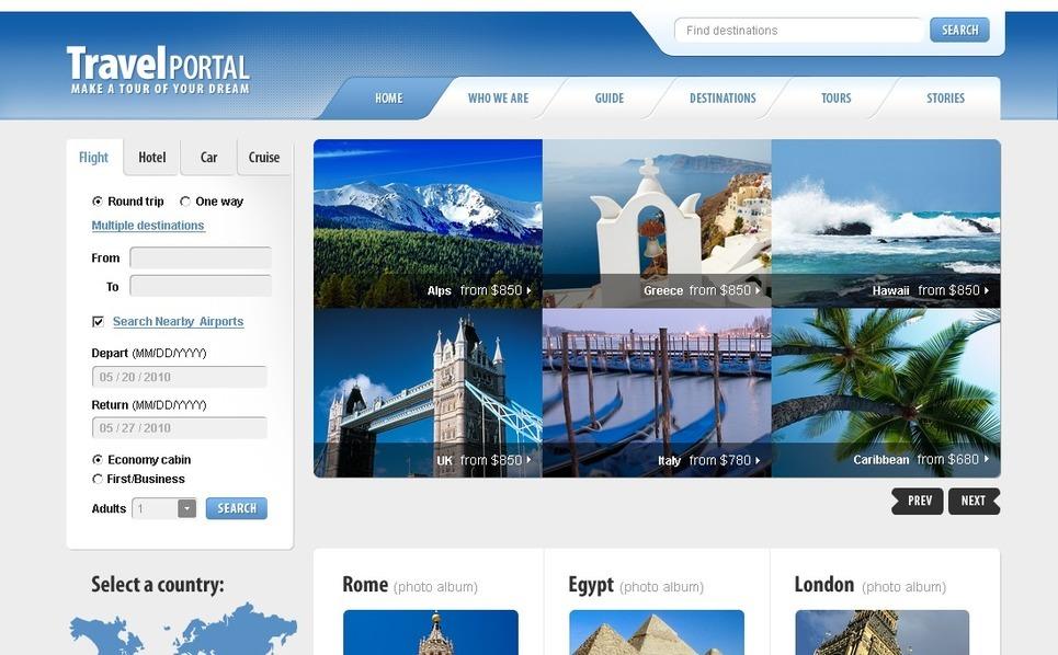 Modèle PSD  pour site de guide de voyage New Screenshots BIG