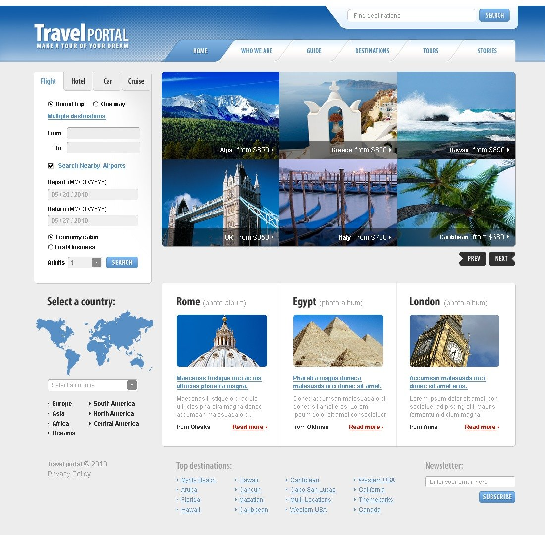 The Travel Agency PSD Design 54112, one of the best PSD templates of its kind (travel, most popular, flash 8, wide), also known as travel agency PSD template, compass PSD template, tour country PSD template, resort PSD template, spa PSD template, flight hotel PSD template, car PSD template, rental PSD template, cruise PSD template, sights PSD template, reservation PSD template, location PSD template, authorization PSD template, ticket PSD template, guide PSD template, beach PSD template, sea PSD template, relaxation PSD template, recreation PSD template, impression PSD template, air PSD template, liner PSD template, traveling PSD template, apartment PSD template, vacation PSD template, rest PSD template, comfort PSD template, destination PSD template, exploratio and related with travel agency, compass, tour country, resort, spa, flight hotel, car, rental, cruise, sights, reservation, location, authorization, ticket, guide, beach, sea, relaxation, recreation, impression, air, liner, traveling, apartment, vacation, rest, comfort, destination, exploratio, etc.