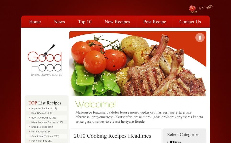 Plantilla PSD #54113 para Sitio de Cocina New Screenshots BIG