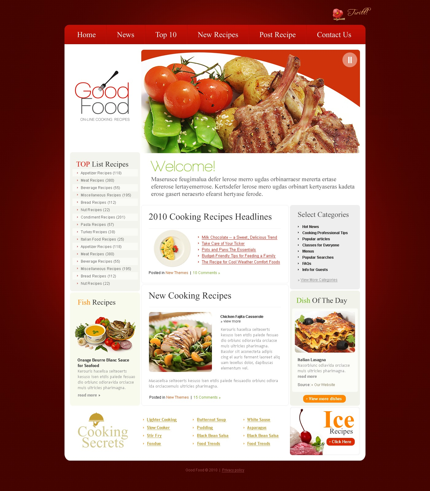 The Good Food PSD Design 54113, one of the best PSD templates of its kind (food & drink, flash 8, wide), also known as good food PSD template, cooking recipes PSD template, cooking recipes PSD template, webpage PSD template, site PSD template, information PSD template, events PSD template, archive PSD template, links PSD template, guestbook PSD template, journal PSD template, visitors PSD template, opinion PSD template, discussion blogroll restaurants PSD template, cuisine PSD template, flavour kitchen PSD template, cookbook PSD template, vegetarian PSD template, healthy PSD template, cocktail PSD template, drink PSD template, technique PSD template, delivery PSD template, ingredients PSD template, di and related with good food, cooking recipes, cooking recipes, webpage, site, information, events, archive, links, guestbook, journal, visitors, opinion, discussion blogroll restaurants, cuisine, flavour kitchen, cookbook, vegetarian, healthy, cocktail, drink, technique, delivery, ingredients, di, etc.