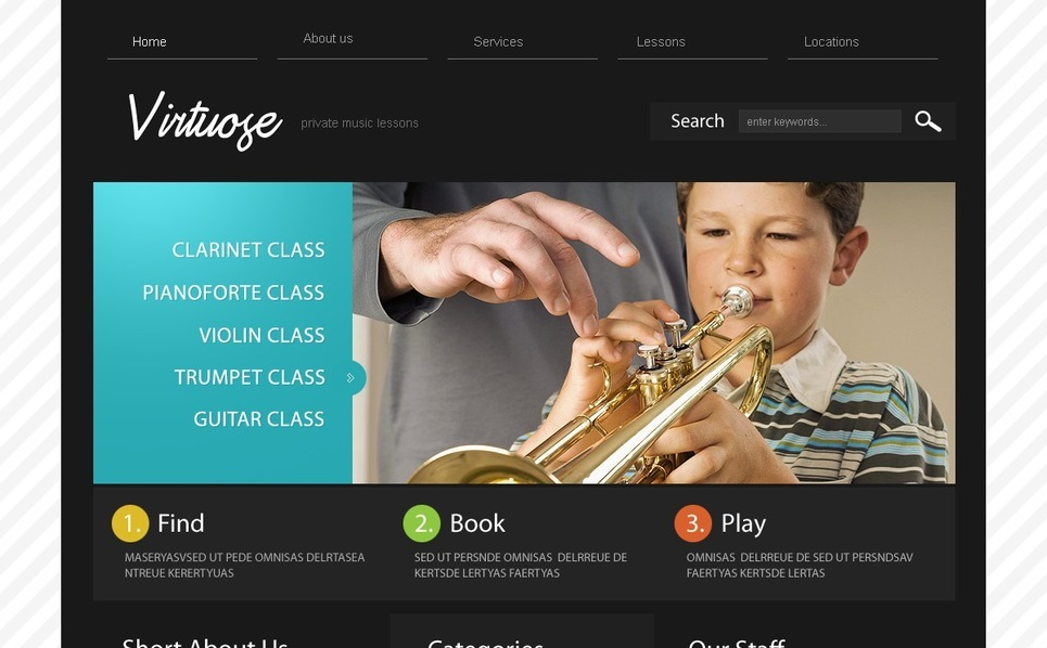 Szablon PSD #54114 na temat: szkoła muzyczna New Screenshots BIG