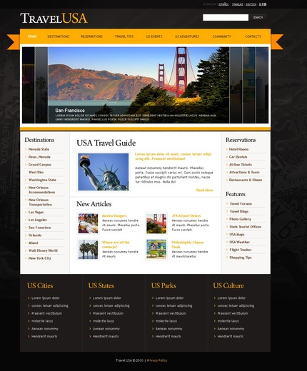 ADOBE Photoshop Template 54116 Home Page Screenshot