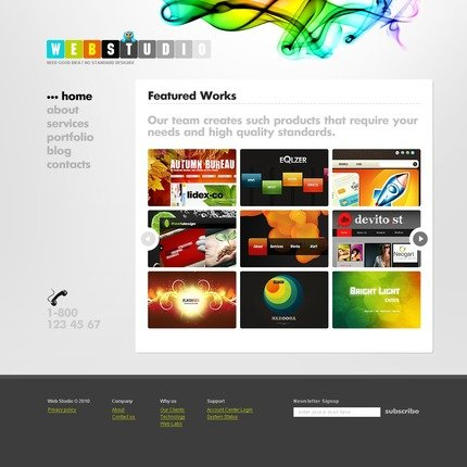 ADOBE Photoshop Template 54120 Home Page Screenshot