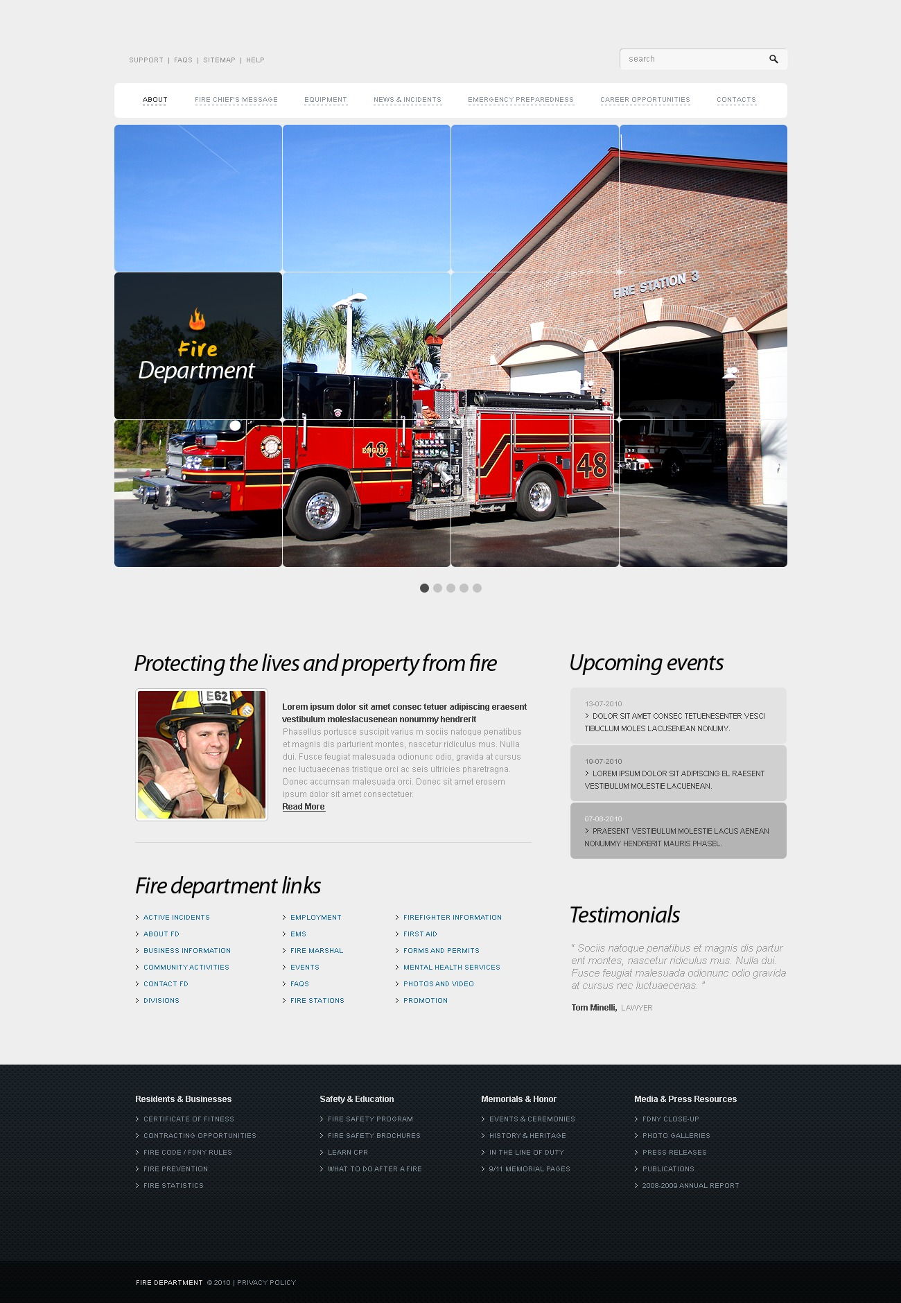 The Fire Department PSD Design 54121, one of the best PSD templates of its kind (security, most popular, wide, jquery), also known as fire department PSD template, firemen PSD template, helmet PSD template, saving PSD template, station PSD template, water PSD template, training PSD template, courses PSD template, conflagration PSD template, alarm PSD template, firehouse PSD template, smoke PSD template, posture PSD template, sensor PSD template, nozzle PSD template, tag PSD template, foam and related with fire department, firemen, helmet, saving, station, water, training, courses, conflagration, alarm, firehouse, smoke, posture, sensor, nozzle, tag, foam, etc.