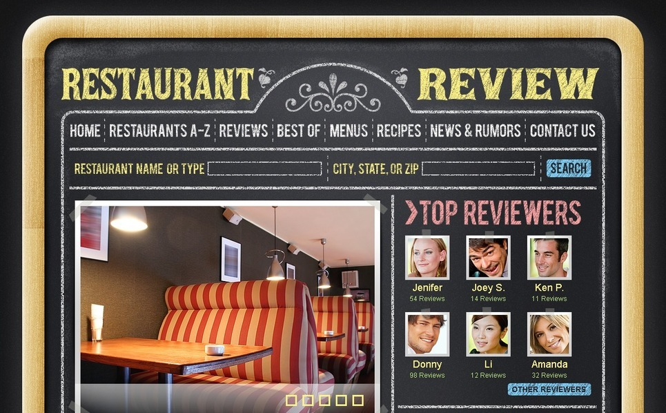 PSD Template over Restaurantbeoordelingen New Screenshots BIG