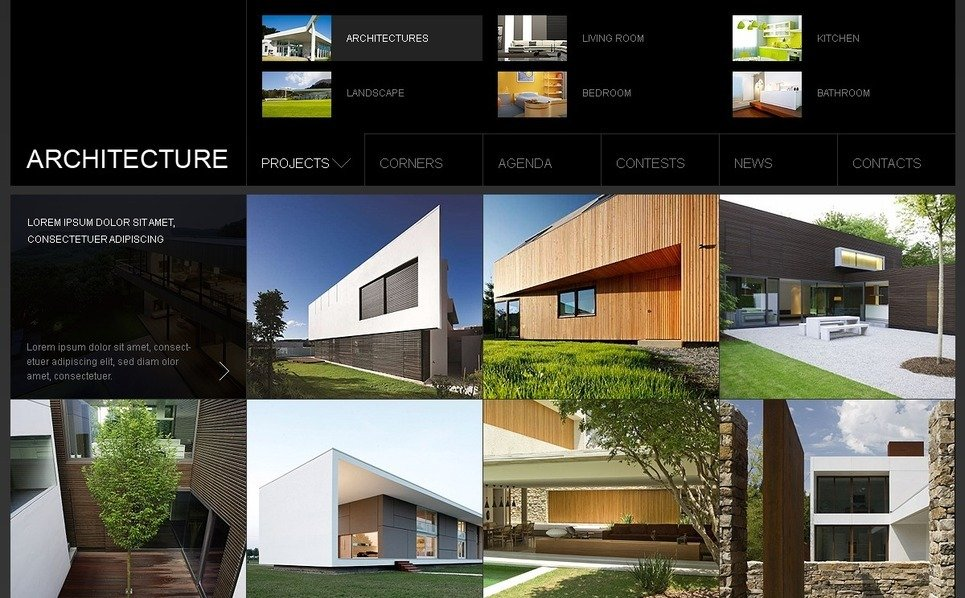 Template Photoshop  para Sites de Arquitetura №54123 New Screenshots BIG