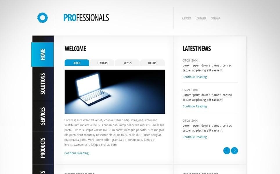 Szablon PSD #54127 na temat: biznes i usługi New Screenshots BIG