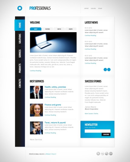 ADOBE Photoshop Template 54127 Home Page Screenshot