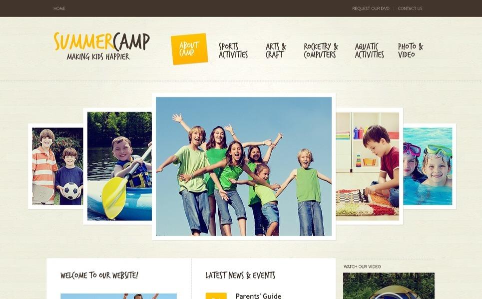 PSD шаблон на тему літній табір New Screenshots BIG