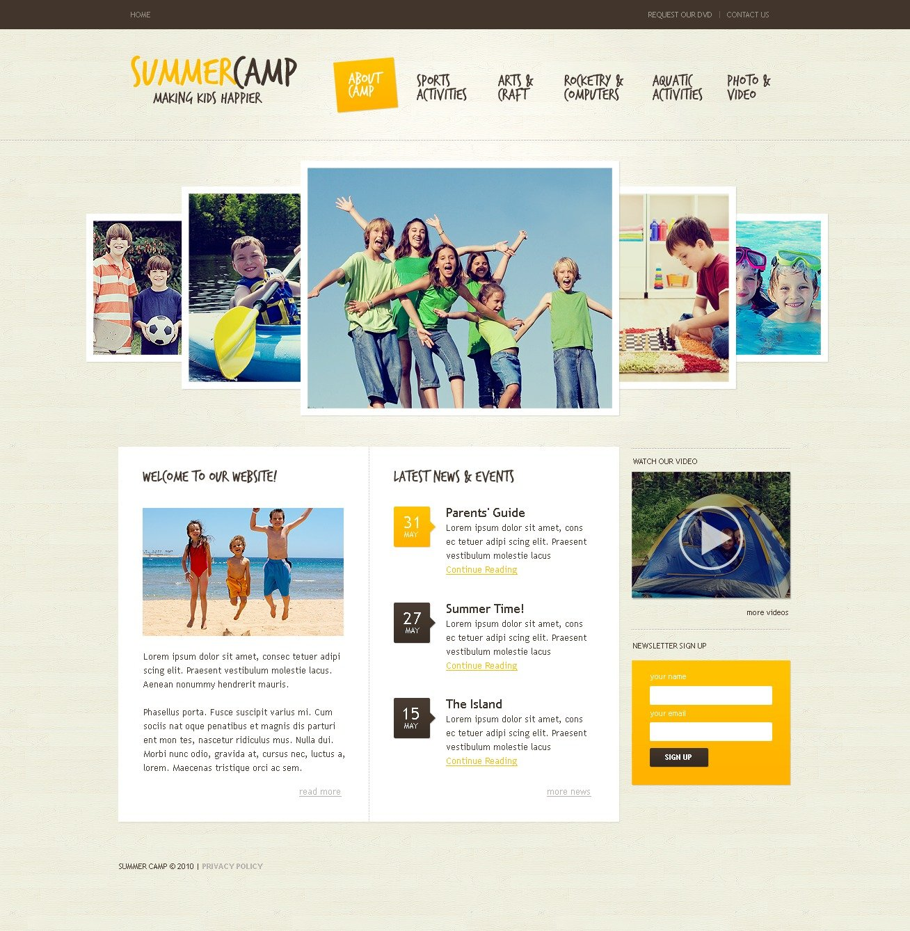The Summer Camp PSD Design 54128, one of the best PSD templates of its kind (family, travel, most popular, wide, jquery), also known as summer camp PSD template, camper PSD template, camping PSD template, tourism PSD template, equipment PSD template, tents PSD template, campers PSD template, motorhome PSD template, hire PSD template, western PSD template, lakes PSD template, mountains PSD template, mid PSD template, coast PSD template, down PSD template, east PSD template, sunrise PSD template, country PSD template, tourists PSD template, guide PSD template, tips PSD template, regions PSD template, destination PSD template, map PSD template, compass PSD template, info PSD template, statewide PSD template, activity PSD template, gallery PSD template, location PSD template, relaxation PSD template, recreation PSD template, impres and related with summer camp, camper, camping, tourism, equipment, tents, campers, motorhome, hire, western, lakes, mountains, mid, coast, down, east, sunrise, country, tourists, guide, tips, regions, destination, map, compass, info, statewide, activity, gallery, location, relaxation, recreation, impres, etc.