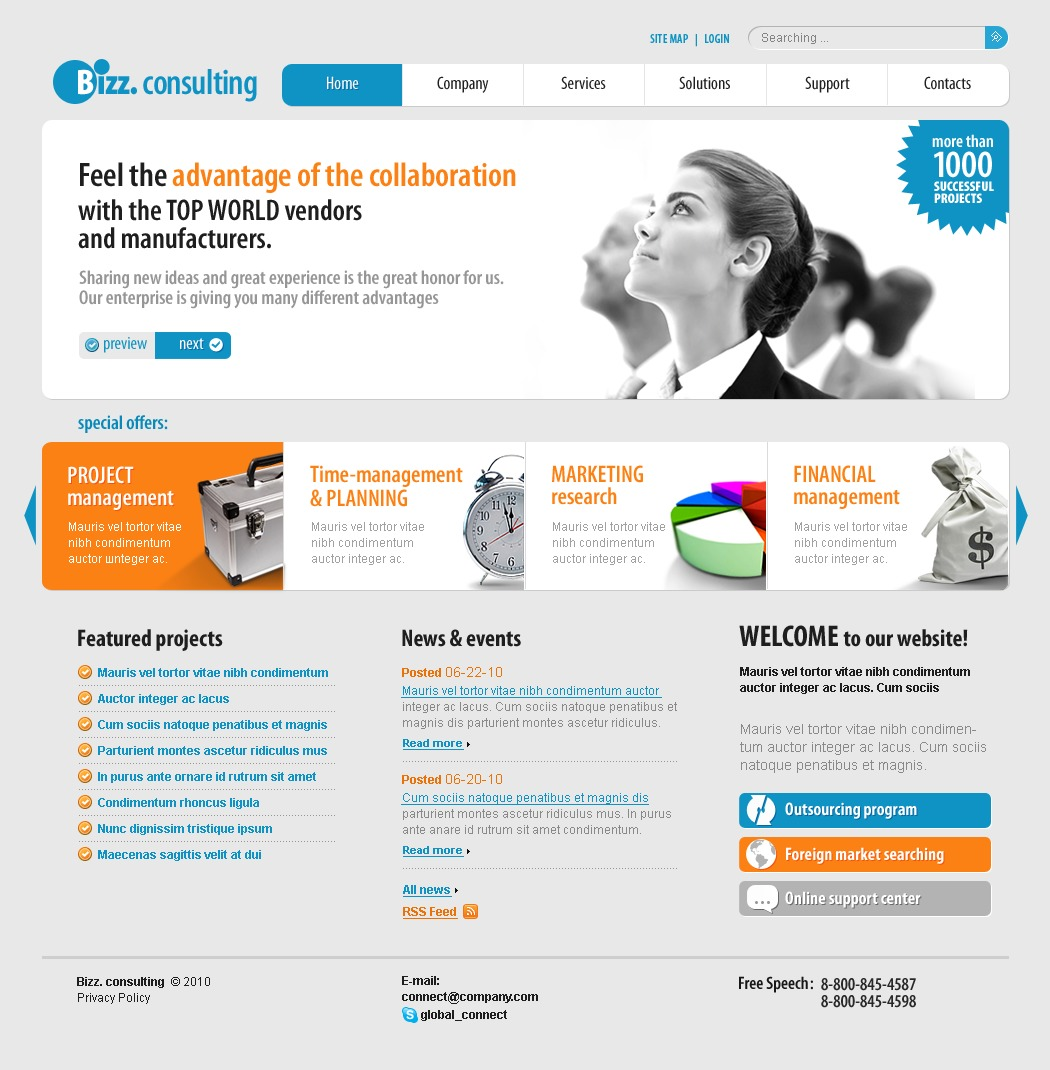 The Bizz Consulting PSD Design 54129, one of the best PSD templates of its kind (business, flash 8, wide, jquery), also known as bizz consulting PSD template, business company PSD template, corporate solutions PSD template, innovations PSD template, contacts PSD template, service PSD template, support PSD template, information dealer PSD template, stocks PSD template, team PSD template, success PSD template, money PSD template, marketing PSD template, director PSD template, manager PSD template, analytics PSD template, planning PSD template, limited PSD template, office PSD template, sales and related with bizz consulting, business company, corporate solutions, innovations, contacts, service, support, information dealer, stocks, team, success, money, marketing, director, manager, analytics, planning, limited, office, sales, etc.