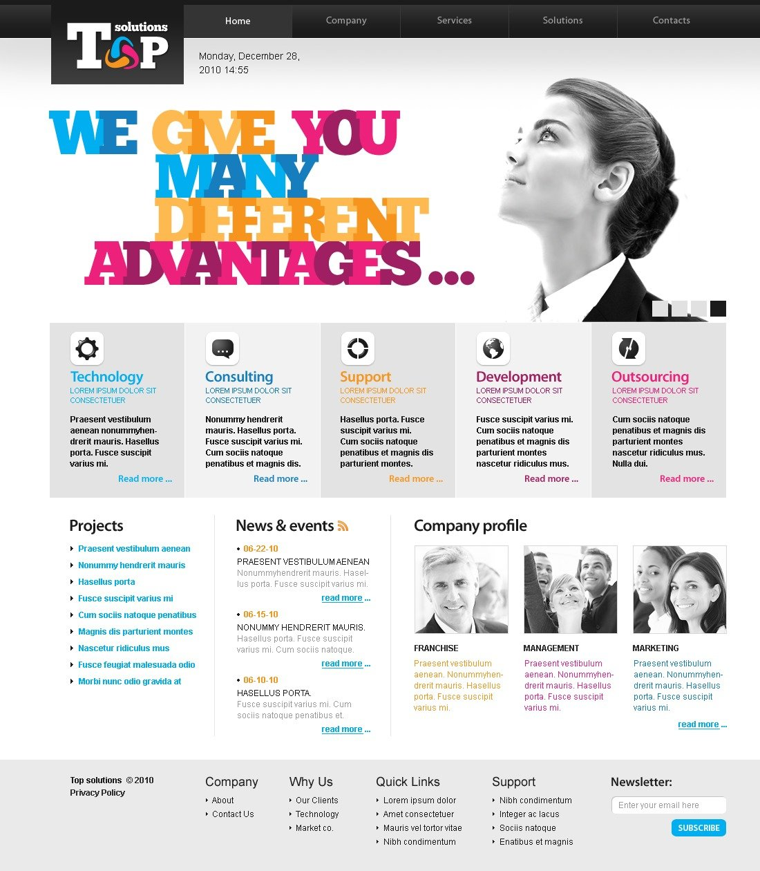 The Top Solutions PSD Design 54130, one of the best PSD templates of its kind (business, flash 8, wide), also known as top solutions PSD template, business company PSD template, corporate solutions PSD template, innovations PSD template, contacts PSD template, service PSD template, support PSD template, information dealer PSD template, stocks PSD template, team PSD template, success PSD template, money PSD template, marketing PSD template, director PSD template, manager PSD template, analytics PSD template, planning PSD template, limited PSD template, office PSD template, sales and related with top solutions, business company, corporate solutions, innovations, contacts, service, support, information dealer, stocks, team, success, money, marketing, director, manager, analytics, planning, limited, office, sales, etc.