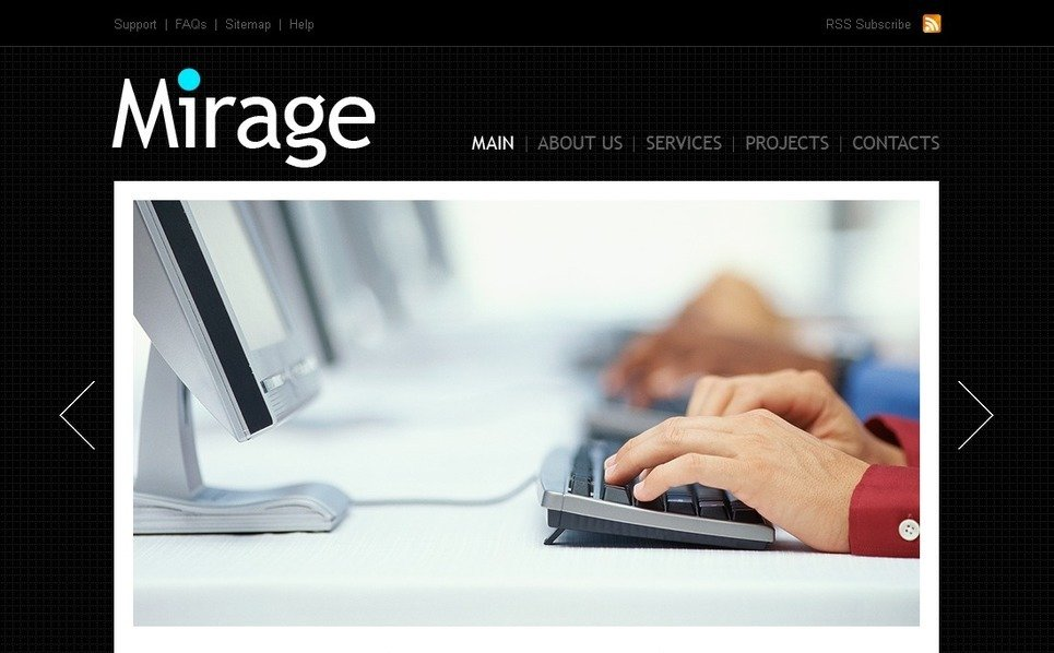 Template PSD  #54133 per Un Sito di Business e Servizi New Screenshots BIG