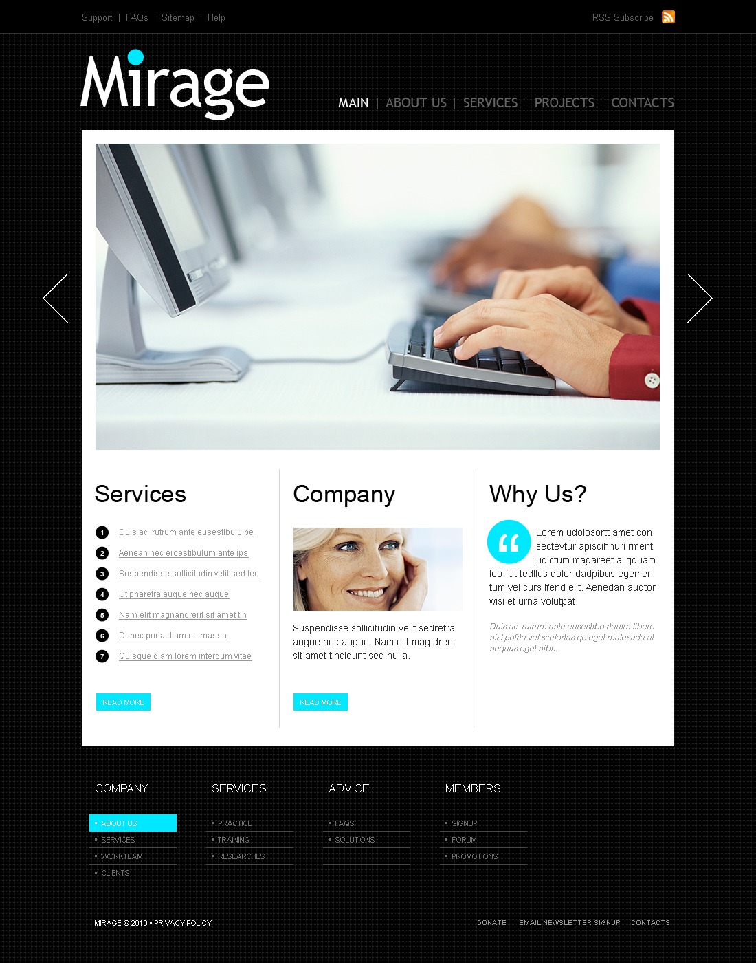 The Mirage Business Company PSD Design 54133, one of the best PSD templates of its kind (business, wide, jquery), also known as mirage business company PSD template, corporate solutions PSD template, innovations PSD template, contacts PSD template, service PSD template, support PSD template, information dealer PSD template, stocks PSD template, team PSD template, success PSD template, money PSD template, marketing PSD template, director PSD template, manager PSD template, analytics PSD template, planning PSD template, limited PSD template, office PSD template, sales and related with mirage business company, corporate solutions, innovations, contacts, service, support, information dealer, stocks, team, success, money, marketing, director, manager, analytics, planning, limited, office, sales, etc.