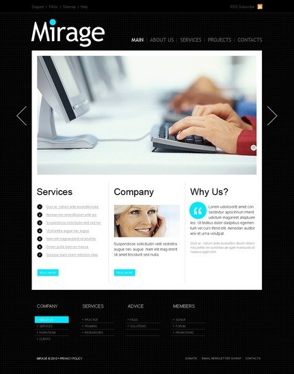 ADOBE Photoshop Template 54133 Home Page Screenshot