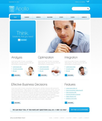 ADOBE Photoshop Template 54135 Home Page Screenshot