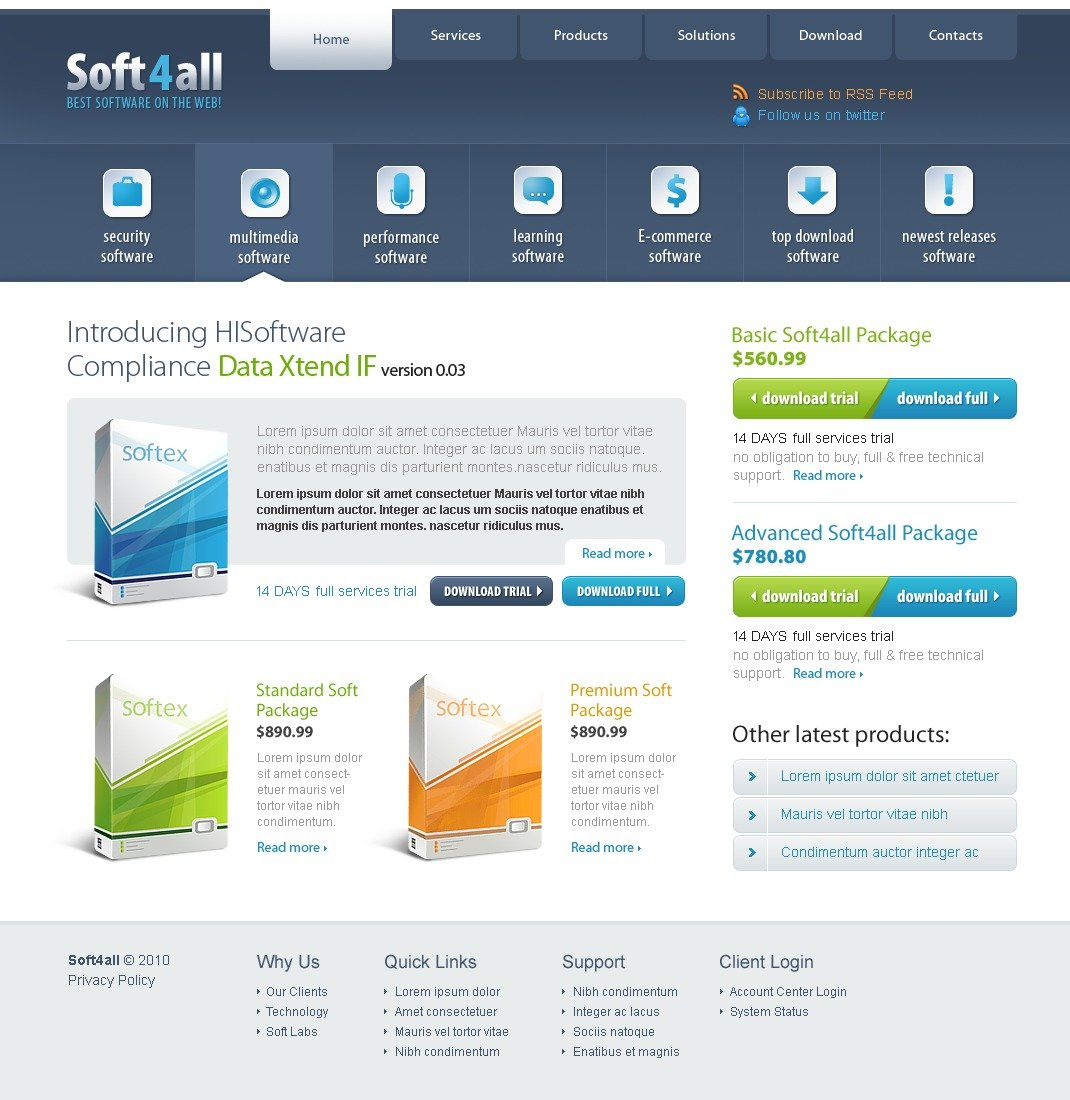 The Soft4all Software Company PSD Design 54141, one of the best PSD templates of its kind (software, flash 8, wide), also known as soft4all software company PSD template, enterprise solution PSD template, business PSD template, industry PSD template, technical PSD template, clients PSD template, customer support PSD template, automate PSD template, flow PSD template, services PSD template, plug-in PSD template, flex PSD template, profile PSD template, principles PSD template, web products PSD template, technology system and related with soft4all software company, enterprise solution, business, industry, technical, clients, customer support, automate, flow, services, plug-in, flex, profile, principles, web products, technology system, etc.
