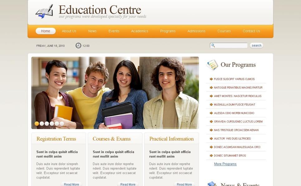 Template Photoshop  para Sites de Educação №54144 New Screenshots BIG