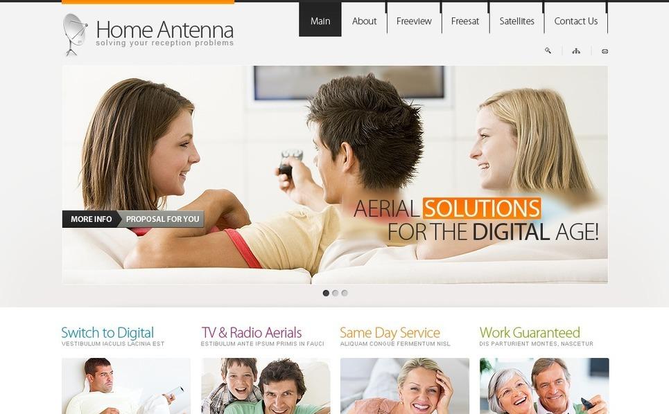 PSD Vorlage für Satellitenfernsehen  New Screenshots BIG